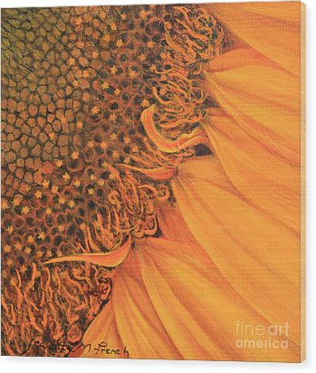 O Sunflower Wood Print