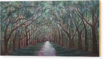 Oak Avenue Wood Print