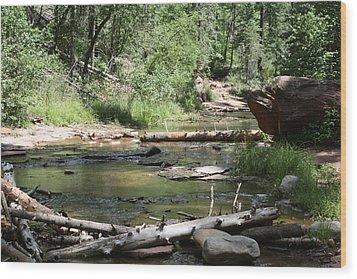 Oak Creek Canyon 5 Wood Print by Grant Washburn
