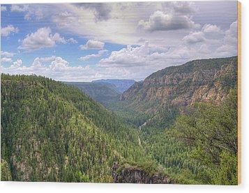 Oak Creek Canyon Wood Print by Ricky Barnard