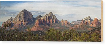 Oak Creek Canyon Sedona Pan Wood Print by Jeff Brunton