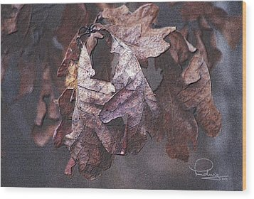 Wood Print featuring the photograph Oak Leaves by Ludwig Keck