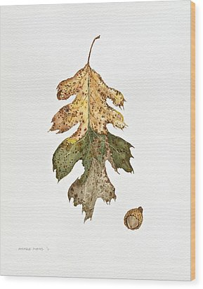 Wood Print featuring the painting Oak Study by Michele Myers