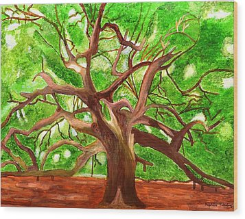 Oak Tree Wood Print by Magdalena Frohnsdorff