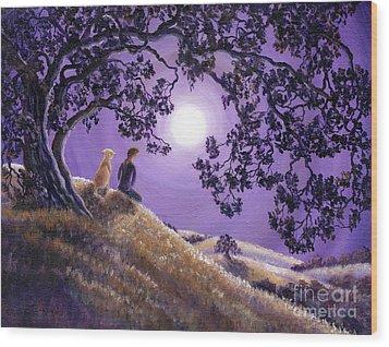 Oak Tree Meditation Wood Print by Laura Iverson