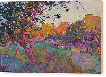 Oaken Light Wood Print by Erin Hanson