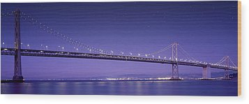 Oakland Bay Bridge Wood Print by Aged Pixel