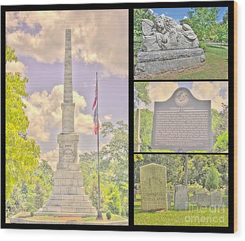 Oakland Cemetery Collage Wood Print