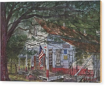 Oakland Plantation Store Wood Print by Tim Oliver