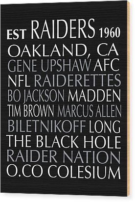 Oakland Raiders Wood Print