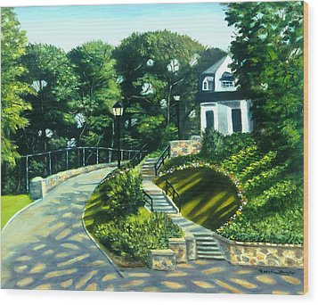 Oakridge In Forest Park Wood Print