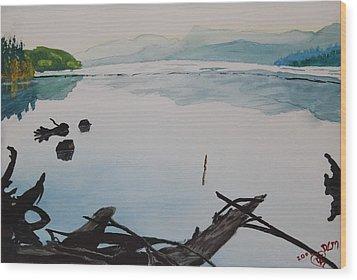 Oakridge Reservoir #1 Wood Print by Dawna Morton