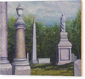 Oakwood Cemetery Jefferson Texas Wood Print by Lenora  De Lude