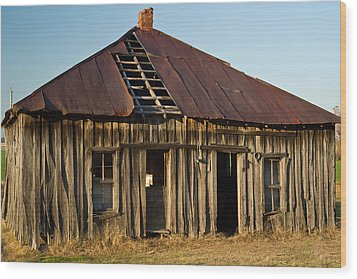 Oalold House Place Arkansas Wood Print by Douglas Barnett