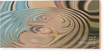 Oasis Wood Print by Loredana Messina