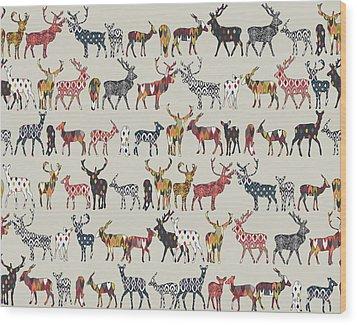 Oatmeal Spice Deer Wood Print