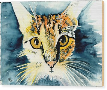 Oatmeal The Cat Wood Print