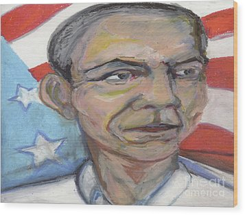 Obama 2012 Wood Print by Derrick Hayes