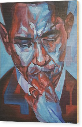 Obama 44 Wood Print by Steve Hunter