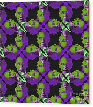 Obama Abstract 20130202m88 Wood Print by Wingsdomain Art and Photography
