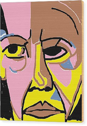 Obama Wood Print by Anita Dale Livaditis