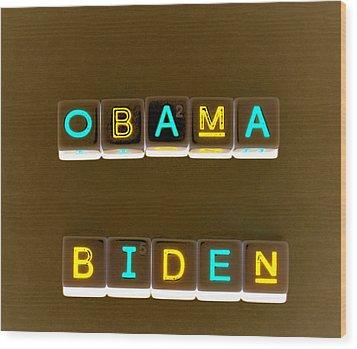 Obama Biden Words. Wood Print by Oscar Williams