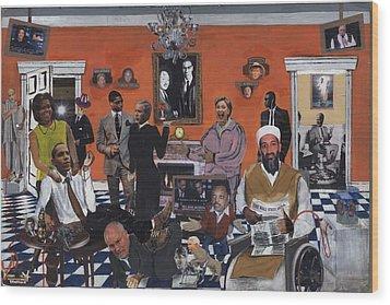 Obama Nation Wood Print by Reginald Williams