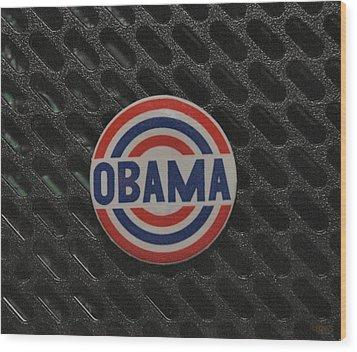 Obama Wood Print by Rob Hans