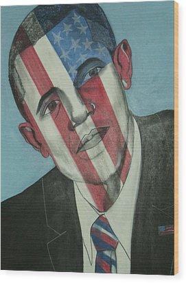 Obama Wood Print by Stanley Clark