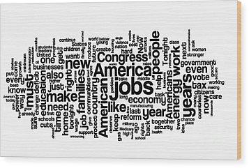 Obama State Of The Union Address - 2013 Wood Print by David Bearden