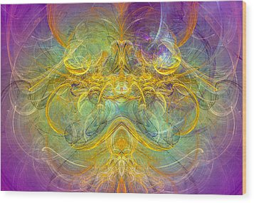 Obeisance To Nature - Spiritual Abstract Art Wood Print by Modern Art Prints