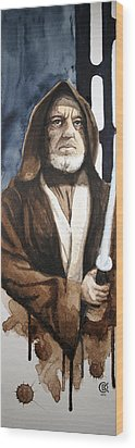 Obi Wan Kenobi Wood Print by David Kraig