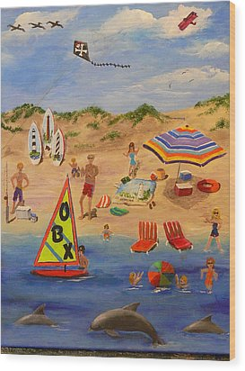 Obx Beach Wood Print