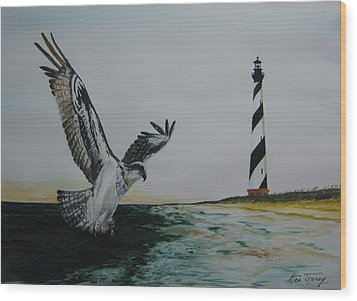 Wood Print featuring the painting O.b.x. by Stan Tenney