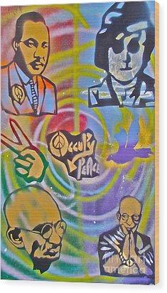 Occupy 4 Peace Wood Print by Tony B Conscious