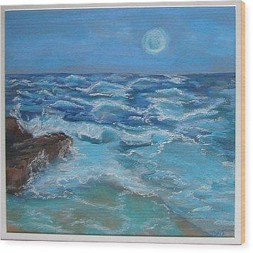 Ocean 1 Wood Print by Joseph Hawkins
