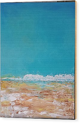 Wood Print featuring the painting Ocean 2 by Diana Bursztein