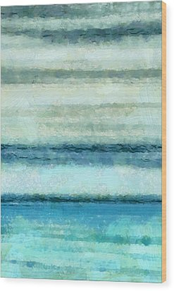 Ocean 4 Wood Print by Angelina Vick