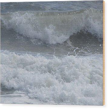 Ocean At Kill Devil Hills Wood Print by Cathy Lindsey