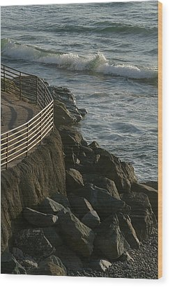 Ocean Beach Boat Ramp Wood Print