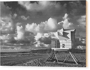 Ocean Beach Lifeguard Tower Wood Print