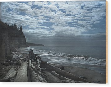 Ocean Beach Pacific Northwest Wood Print