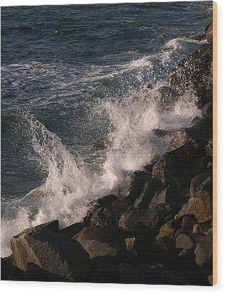 Ocean Beach Splash 3 Wood Print