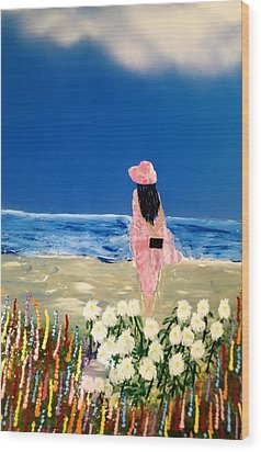 Wood Print featuring the painting Ocean Breeze by Michael Rucker