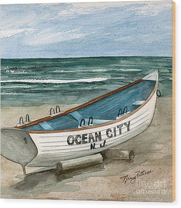 Ocean City Lifeguard Boat 2  Wood Print