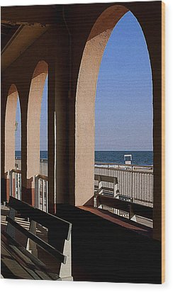 Ocean City Music Pier View Wood Print