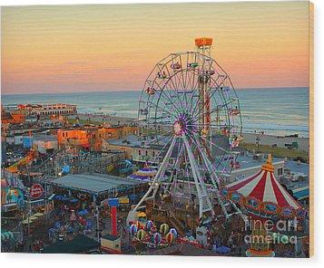 Ocean City Nj Boardwalk And Music Pier Wood Print