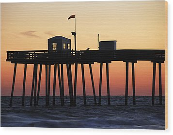 Wood Print featuring the photograph Ocean City Sunset by Dan Myers