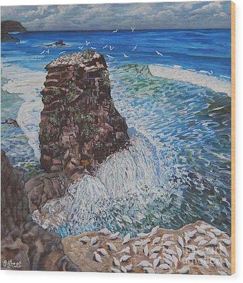 Ocean Dream Wood Print by Caroline Street