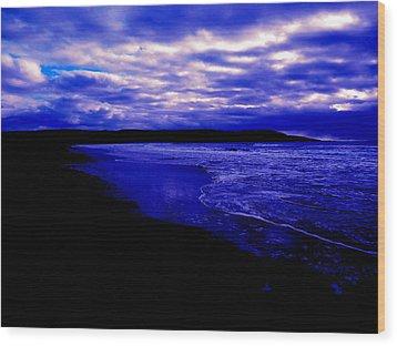 Ocean Dusk Wood Print by Zinvolle Art